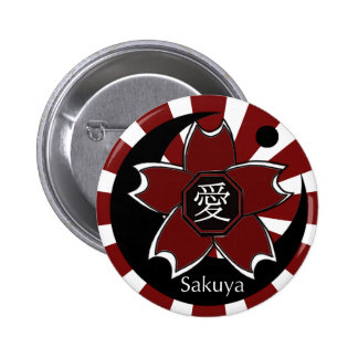 Ai sakuya original logo (Cherry tree +moon) 6 Cm Round Badge