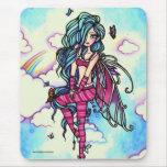 Aia Fairy Butterfly Sky Fairy Mousepad