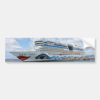 AIDAluna cruise ship anchered off Grenada island Bumper Sticker