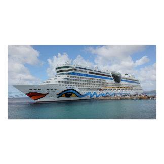 AIDAluna cruise ship anchered off Grenada island Poster