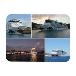 AIDAluna Cruise Ship Collage Magnets
