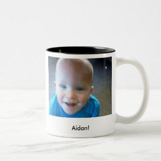 Aidan close!, Aidan! Two-Tone Coffee Mug