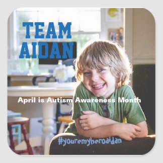 Aidan's Autism Awareness Month Stickers