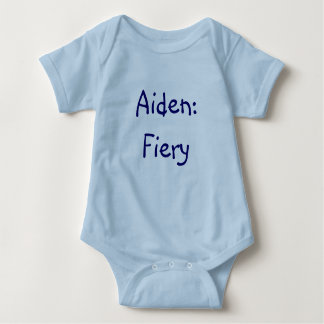 Aiden Baby Name Meaning Bodysuit