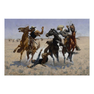 Aiding A Comrade by Frederic Remington Poster