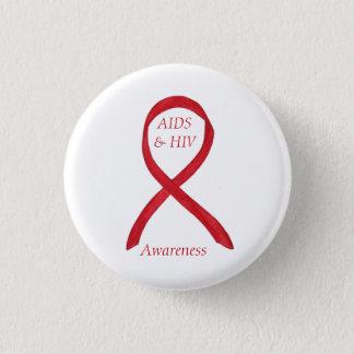 AIDS and HIV Awareness Ribbon Customized Pin