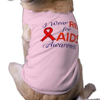Aids Awareness Doggie Ribbed Tank Top