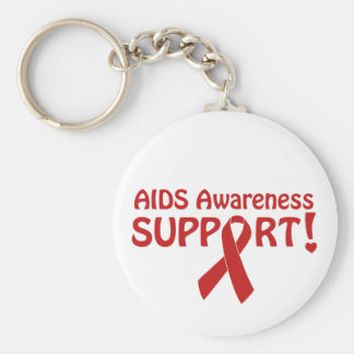 AIDS Awareness Support! Basic Round Button Key Ring