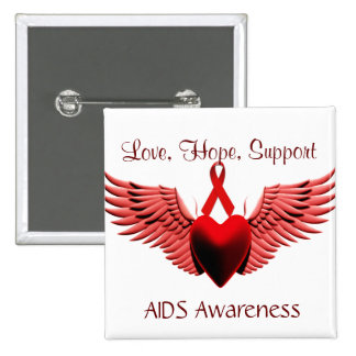 AIDS Awarness Love Care Support_ Pin