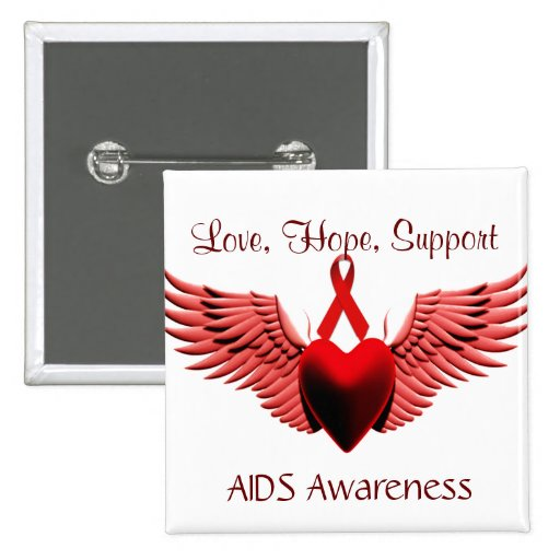 AIDS Awarness,Love,Care,Support_ Pin