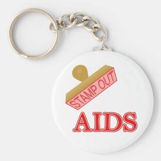 AIDS BASIC ROUND BUTTON KEY RING