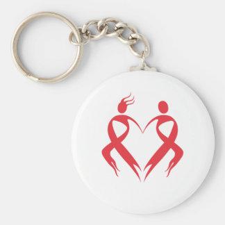 AIDS Emblem Key Ring
