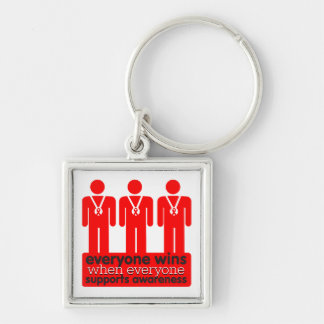 AIDS Everyone Wins With Awareness Keychains