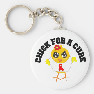 AIDS HIV Chick For A Cure Key Chain