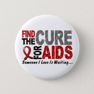 AIDS / HIV Find The Cure 1 6 Cm Round Badge