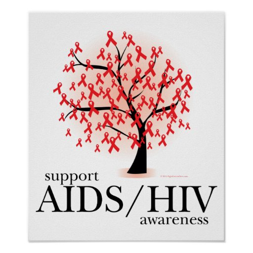 AIDS/HIV Tree Posters | Zazzle