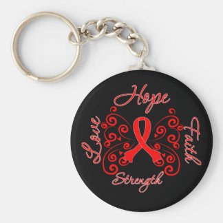 AIDS Hope Motto Butterfly Key Chains
