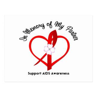 AIDS In Memory of My Partner Postcard
