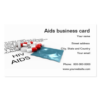 Aids support and prevent business card