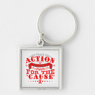 AIDS Take Action Fight For The Cause Key Chains