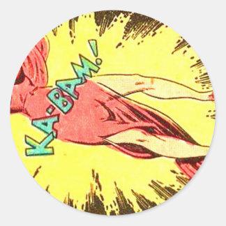 Aie-eee! ka-Blam! Classic Round Sticker