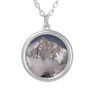 Aiguille du Midi in France Silver Plated Necklace