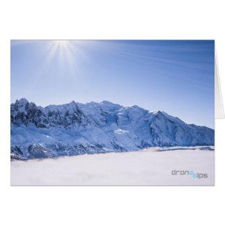 Aiguille du Midi & Mont Blanc - Above the Clouds Card