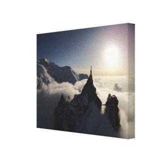Aiguille du Midi & Mont Blanc at Sunset Canvas Print