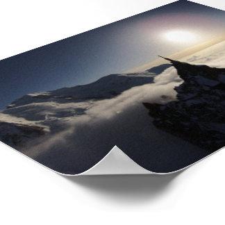 Aiguille du Midi & Mont Blanc at Sunset Poster