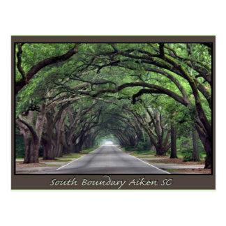 Aiken SC postage South Boundary Postcard