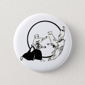 Aikido 6 Cm Round Badge