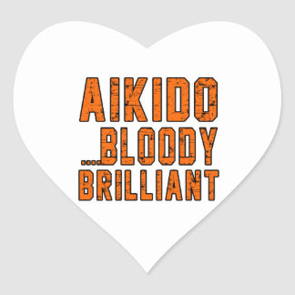 Aikido Bloody brilliant Heart Sticker