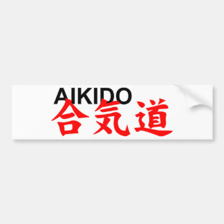 aikido bumper sticker