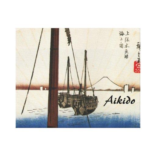 Aikido Japanese Martial Art Canvas Print