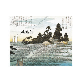 Aikido Japanese Martial Art Stretched Canvas Print