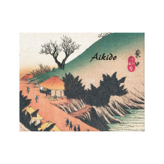 Aikido Japanese Martial Art Gallery Wrapped Canvas