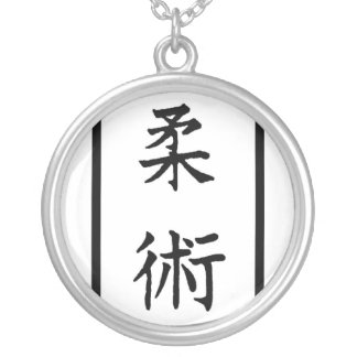 AIKIDO MMA KARATE SILVER PLATED NECKLACE