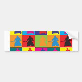 Aikido Pop Art Bumper Sticker