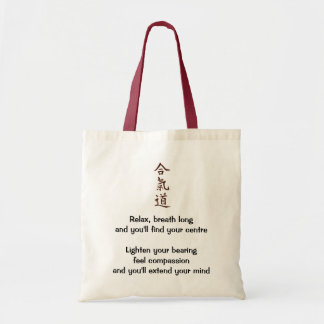 Aikido principles tote bag