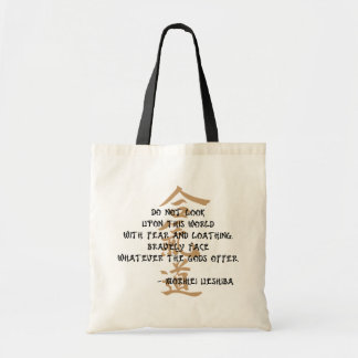 Aikido Quote Tote Bag