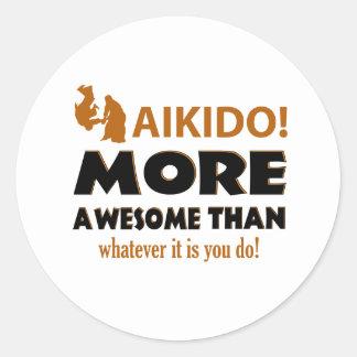 AIKIDO ROUND STICKER