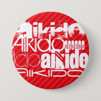 Aikido; Scarlet Red Stripes 7.5 Cm Round Badge