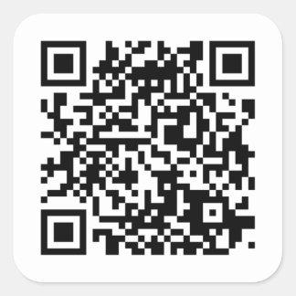 Aileron code Sticker/sticker Square Sticker