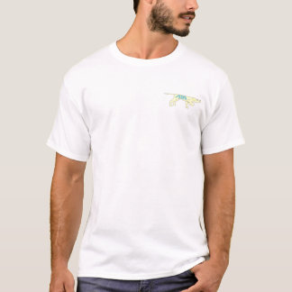 AIM blue, dog yellow T-Shirt
