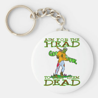 AIM for the HEAD Basic Round Button Key Ring