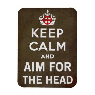 AIM FOR THE HEAD RECTANGULAR PHOTO MAGNET