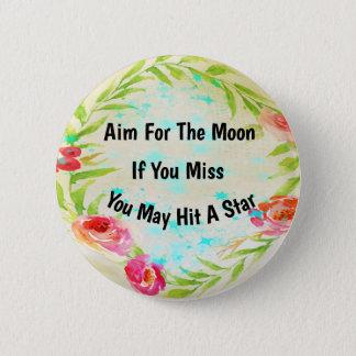 Aim For The Moon Bokeh Button