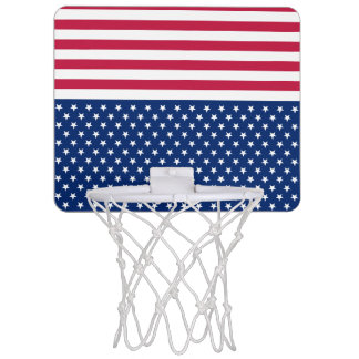 Aim For The Stars Basketball Hoop Red Stripes USA