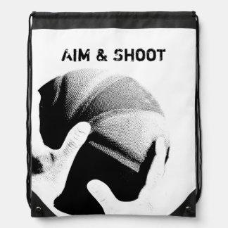 Aim & Shoot Motivational Basketball Drawstring Bag