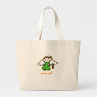 aingeal (little angel in Irish) Large Tote Bag